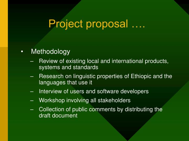 Project proposal ….