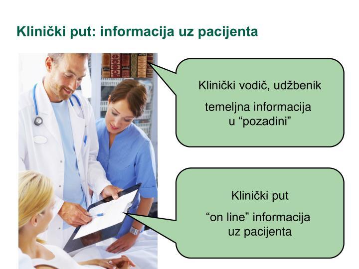 Klinički put: informacija uz pacijenta