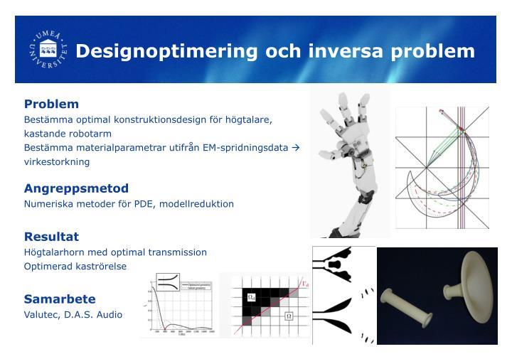 Designoptimering och inversa problem