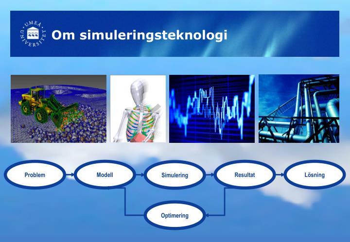 Om simuleringsteknologi