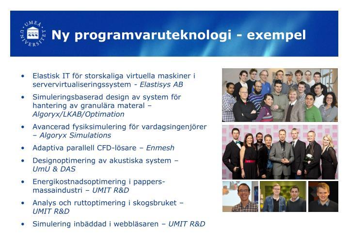 Ny programvaruteknologi - exempel