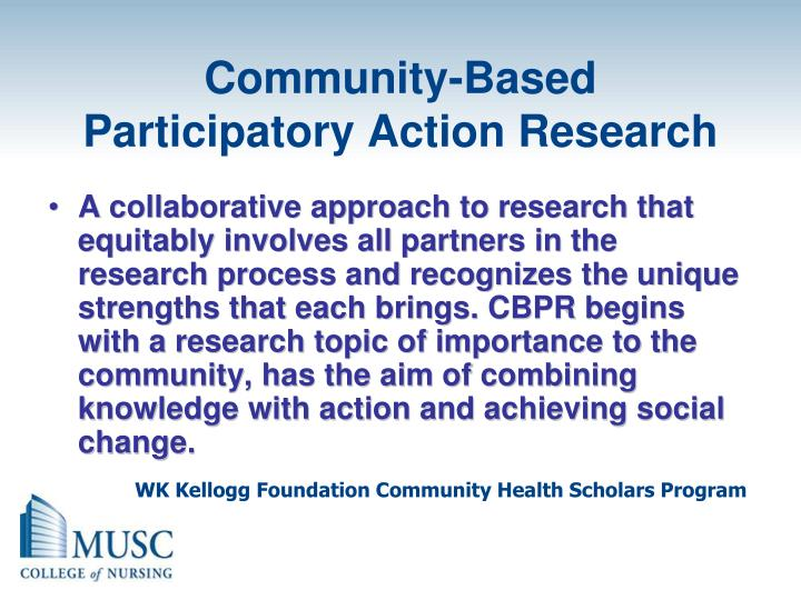 Community-Based Participatory Action Research