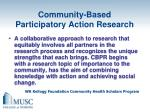 community based participatory action research