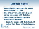 diabetes costs