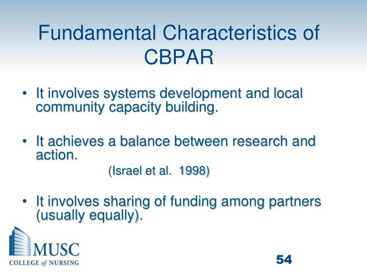 Fundamental Characteristics of CBPAR