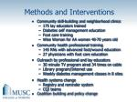 methods and interventions