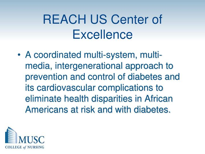 REACH US Center of Excellence