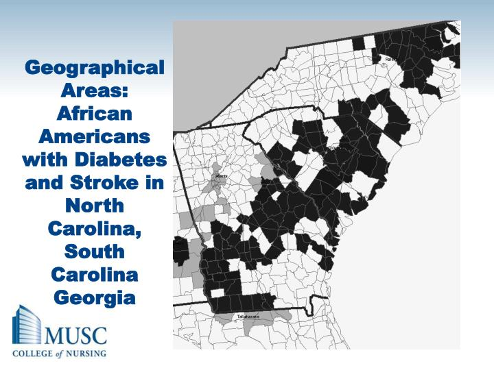 Geographical Areas: African Americans with Diabetes and Stroke in