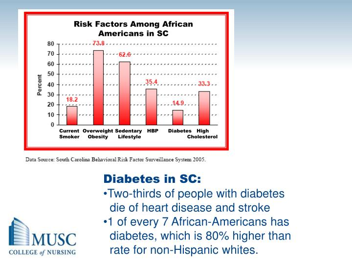 Risk Factors Among African Americans in SC