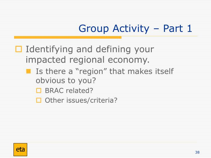 Group Activity – Part 1