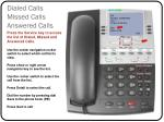 dialed calls missed calls answered calls