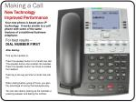 making a call new technology improved performance