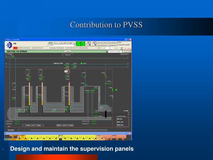 Contribution to PVSS