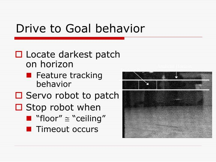 Drive to Goal behavior