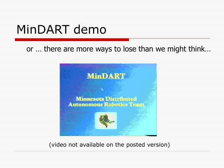 MinDART demo