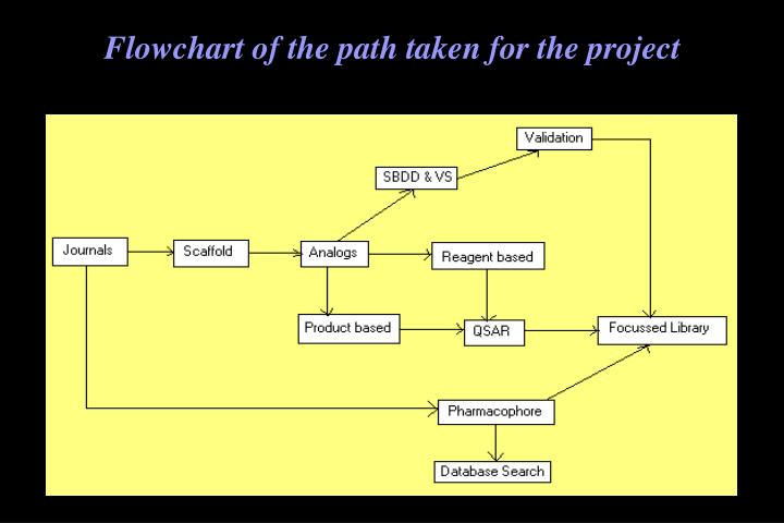 Flowchart of the path taken for the project