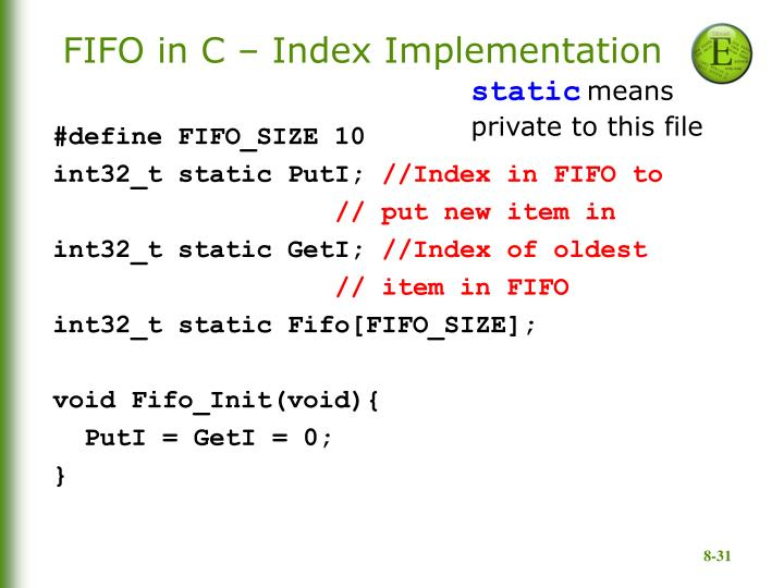 FIFO in C – Index Implementation