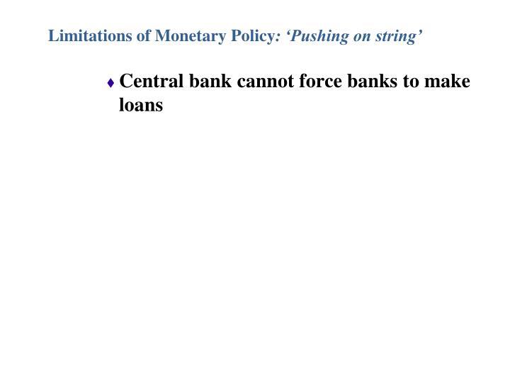 Limitations of Monetary Policy