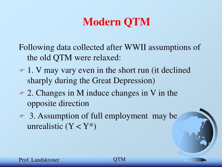 Modern QTM