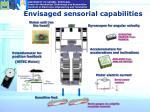 envisaged sensorial capabilities