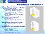 kinematics simulations