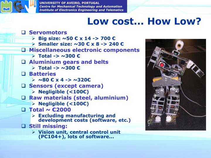 Low cost... How Low?