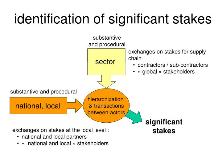 identification of significant stakes