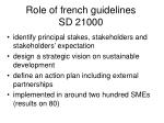 role of french guidelines sd 21000