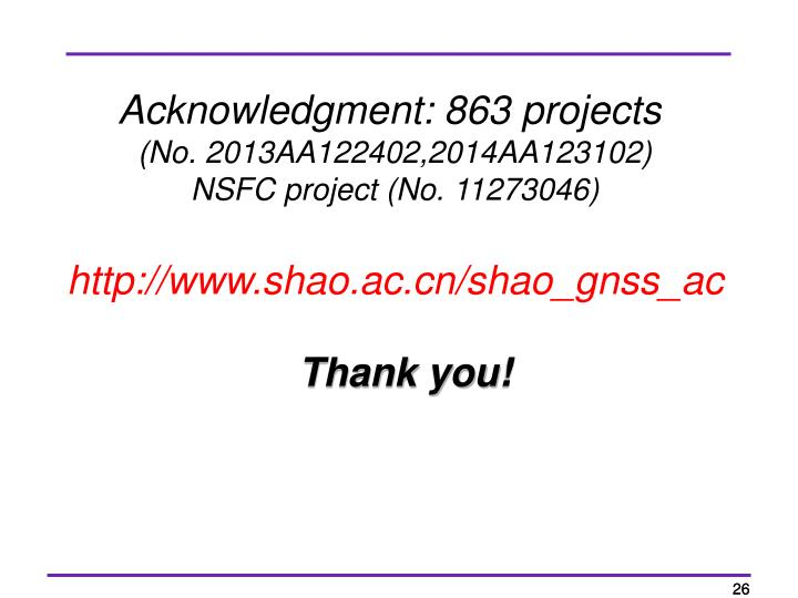 Acknowledgment: 863 projects