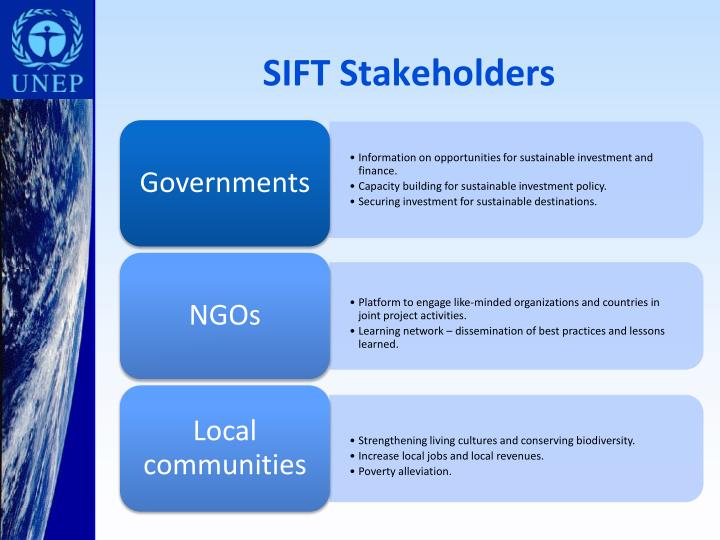 SIFT Stakeholders