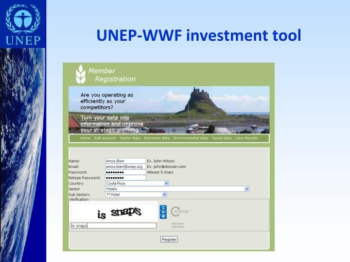UNEP-WWF investment tool