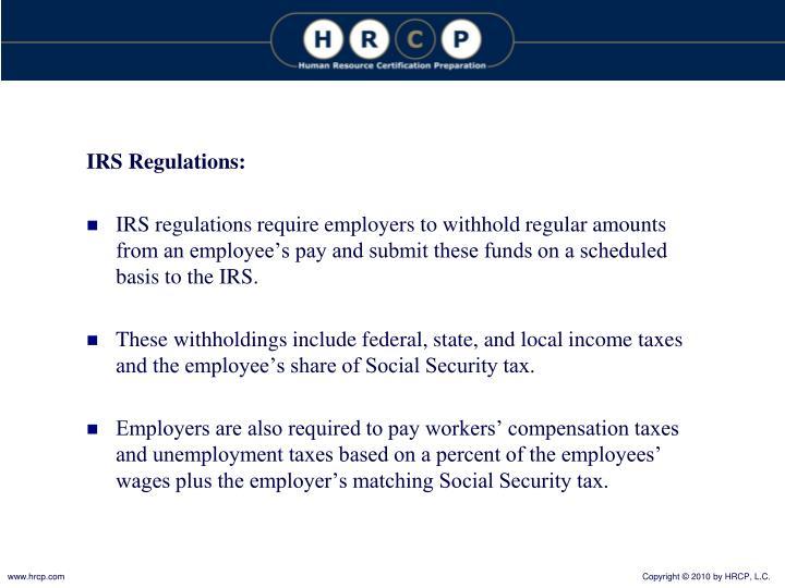 IRS Regulations: