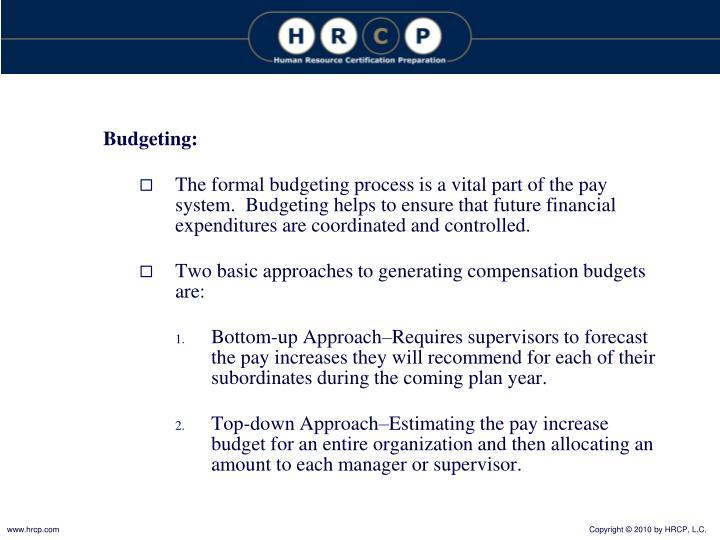 Budgeting: