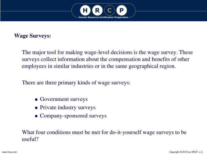 Wage Surveys: