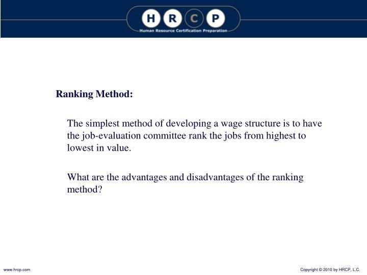 Ranking Method:
