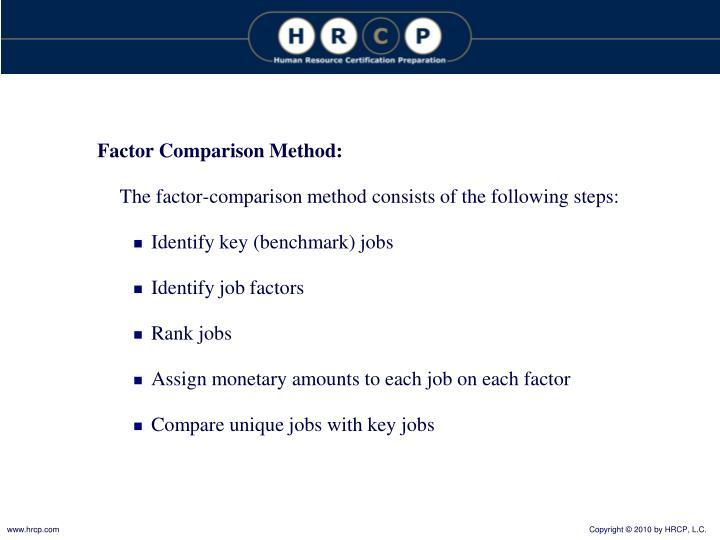 Factor Comparison Method: