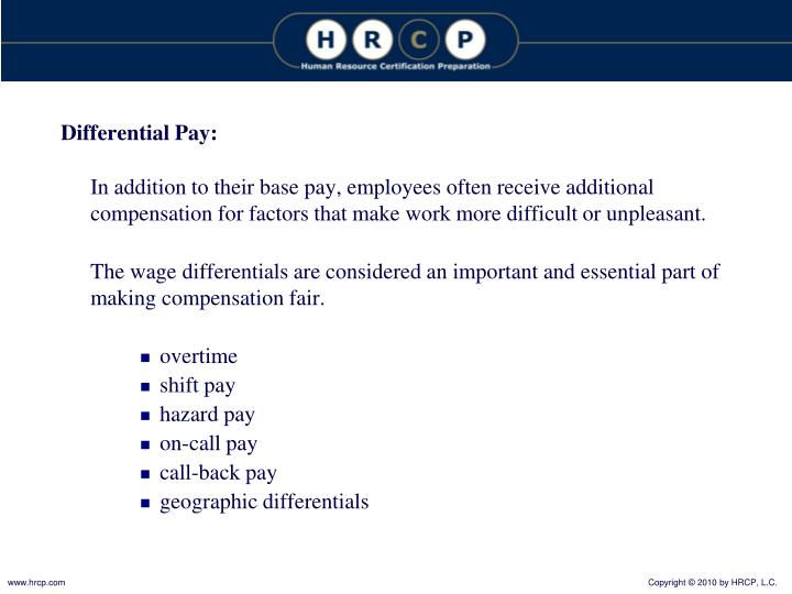 Differential Pay:
