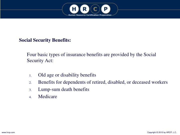 Social Security Benefits: