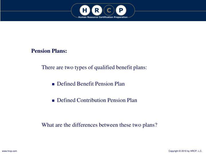 Pension Plans: