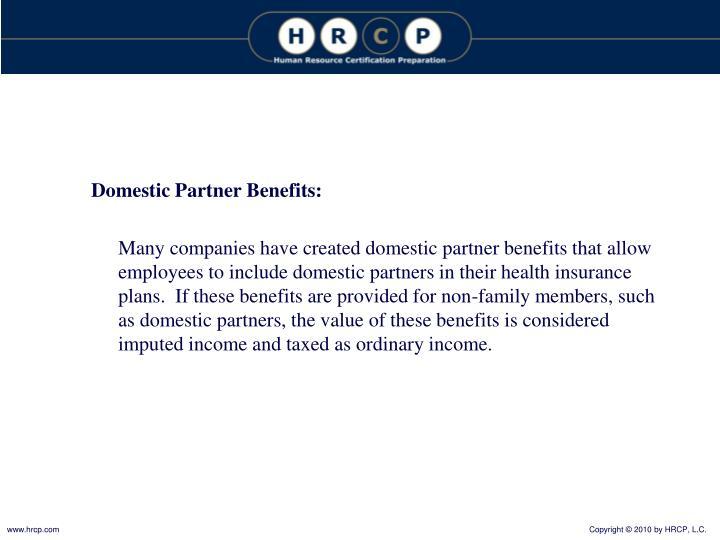 Domestic Partner Benefits: