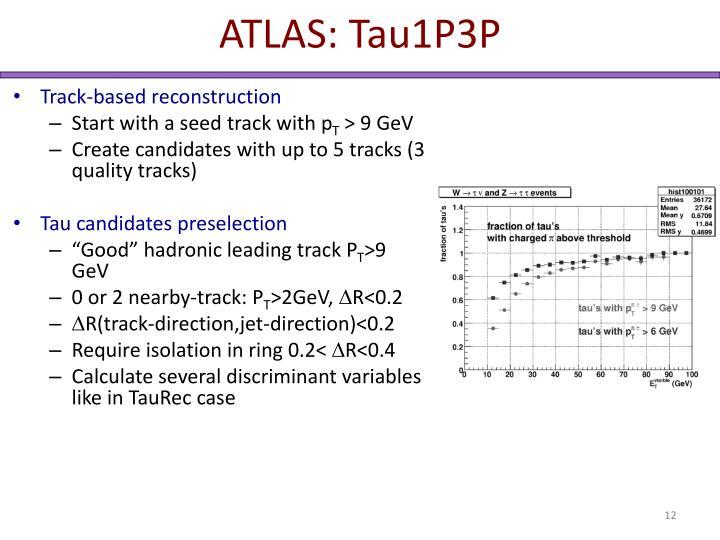 ATLAS: Tau1P3P