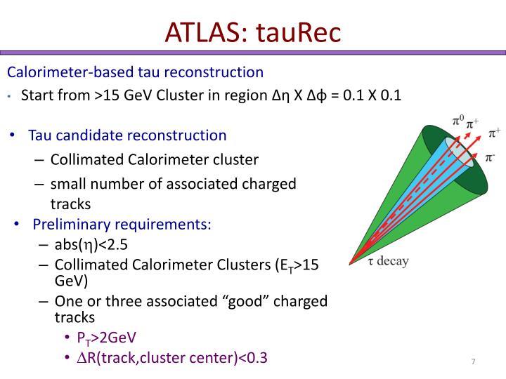 ATLAS: tauRec