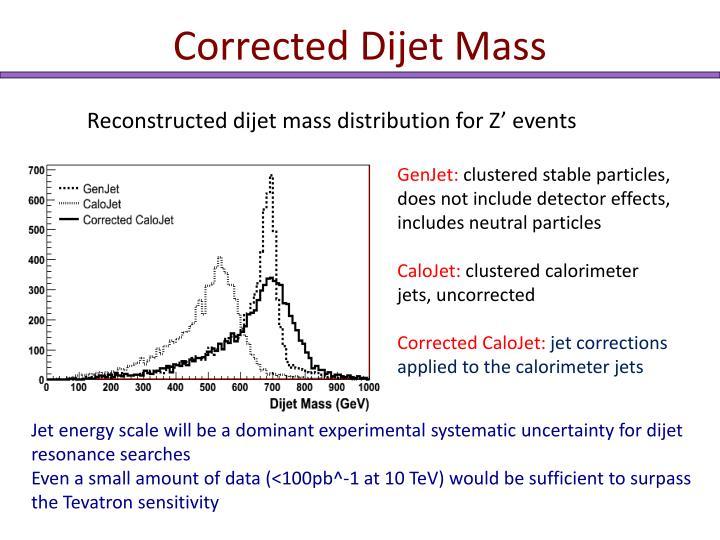 Corrected Dijet Mass