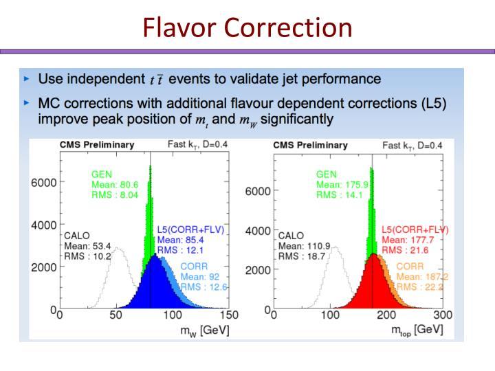 Flavor Correction