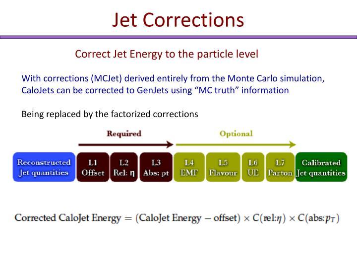 Jet Corrections