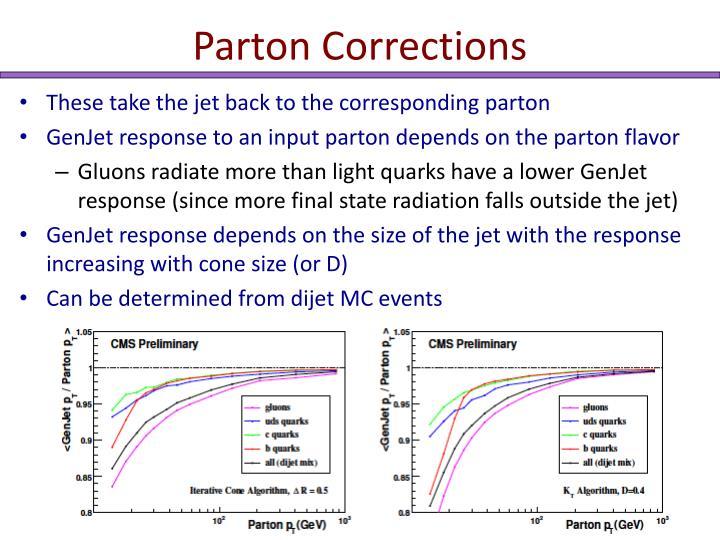 Parton Corrections