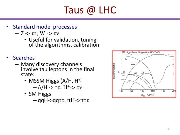 Taus @ LHC