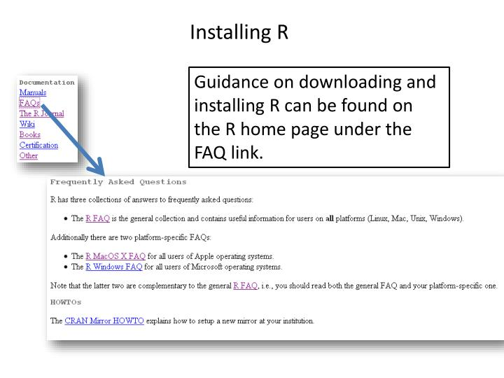 Installing R