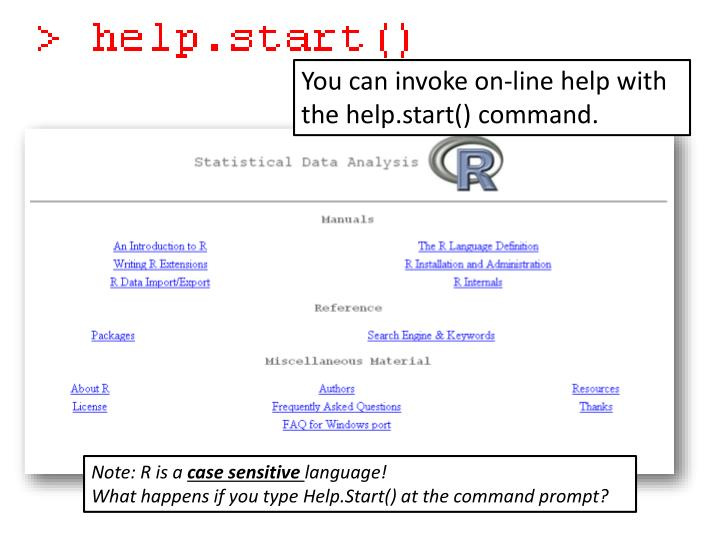 You can invoke on-line help with the