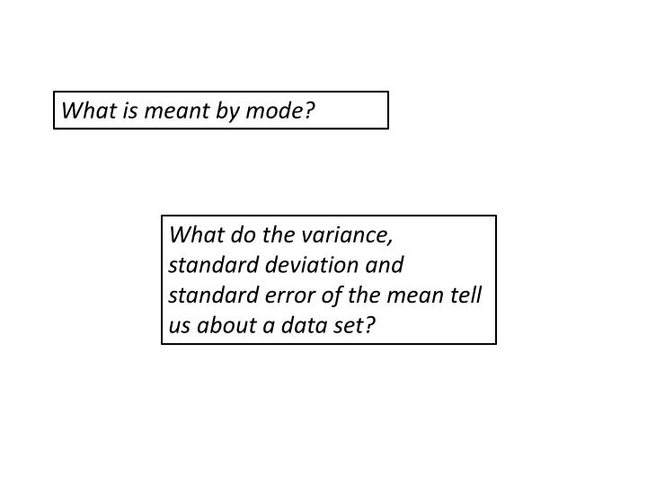 What is meant by mode?